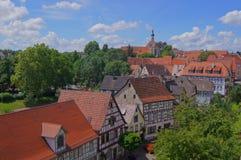 Alte Stadt von falschem Wimpfen Lizenzfreie Stockfotos
