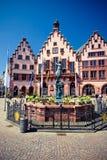 Alte Stadt von Frankfurt. Roemer Platz Stockfoto