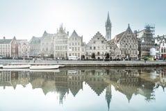 Alte Stadt von Gent, Belgien Lizenzfreies Stockbild