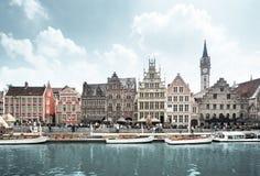 Alte Stadt von Gent, Belgien Stockfotografie