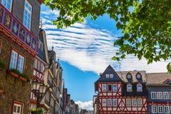 Alte Stadt von Herborn, Deutschland stockbild