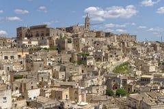 Alte Stadt von Matera Sassi di Matera, Basilikata, Italien stockbilder