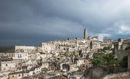 Alte Stadt von Matera (Sassi di Matera), Basilikata, Italien Lizenzfreies Stockfoto