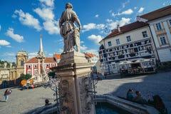 Alte Stadt von Mikulov Stockfoto