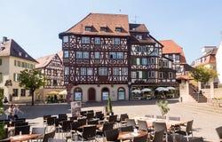 Alte Stadt von Mosbach in Süd-Deutschland Stockfoto
