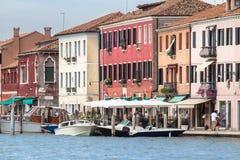 Alte Stadt von Murano-Insel, Venedig, Italien Stockbilder