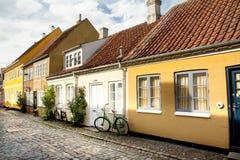 Alte Stadt von Odense, Dänemark stockbilder