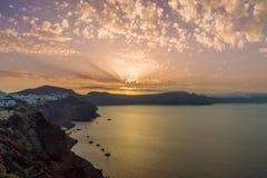 Alte Stadt von Oia auf der Insel Santorini Lizenzfreie Stockfotografie