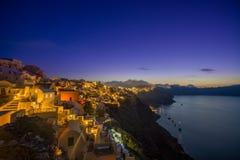 Alte Stadt von Oia auf der Insel Santorini Stockbilder