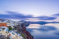 Alte Stadt von Oia auf der Insel Santorini Stockfotografie
