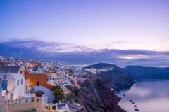 Alte Stadt von Oia auf der Insel Santorini Lizenzfreies Stockbild