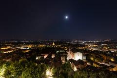 Alte Stadt von Perugia nachts, Umbrien, Italien Lizenzfreies Stockbild