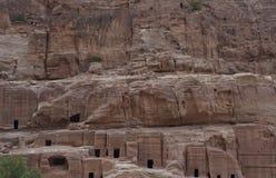 Alte Stadt von PETRA, Jordanien stockfotos