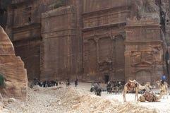 Alte Stadt von PETRA, Jordanien lizenzfreie stockfotografie