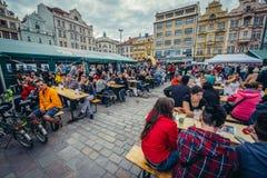 Alte Stadt von Pilsen Lizenzfreie Stockfotografie