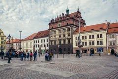 Alte Stadt von Pilsen Stockbild