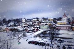 Alte Stadt von Porvoo, Finnland Stockfotografie