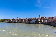 Alte Stadt von Rheinfelden Lizenzfreies Stockfoto