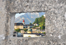 Alte Stadt von Salzburg. Lizenzfreies Stockbild