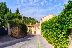 Alte Stadt von Segovia und von seinem Aquädukt. UNESCO-Welt Heritageouple der Königpinguine. Stockfotografie
