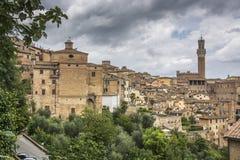 Alte Stadt von Siena Stockfoto