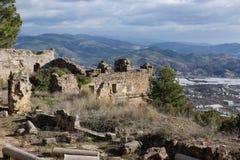 Alte Stadt von Syedra in Alanya-Provinz von der Türkei Lizenzfreie Stockfotos