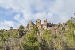 Alte Stadt von Syedra in Alanya-Provinz von der Türkei Lizenzfreie Stockbilder