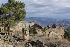 Alte Stadt von Syedra in Alanya-Provinz von der Türkei Stockbilder