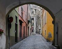 Alte Stadt von Taggia Stockfotos