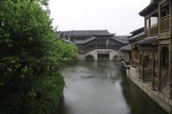 Alte Stadt von Taierzhuang Stockfotografie