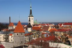 Alte Stadt von Tallinn Stockfoto