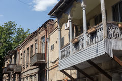 Alte Stadt von Tiflis, Georgia Stockbilder