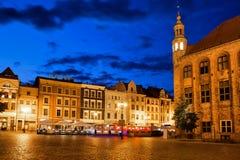 Alte Stadt von Torun bis zum Nacht Stockfotos