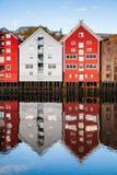 Alte Stadt von Trondheim, Norwegen Stockfoto
