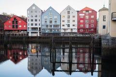 Alte Stadt von Trondheim, Norwegen Lizenzfreie Stockfotografie
