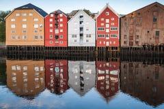 Alte Stadt von Trondheim, Norwegen Lizenzfreie Stockbilder