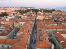 Alte Stadt von Zadar, adriatische Küste Stockbild