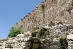 Alte Stadt-Wand von Jerusalem, Israel Stockbilder