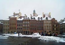 Alte Stadt Warschaus - im Winter stockbild