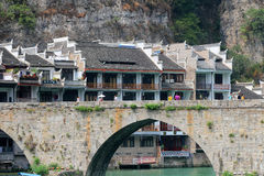 Alte Stadt Zhenyuan in Guizhou-Porzellan Lizenzfreie Stockfotografie