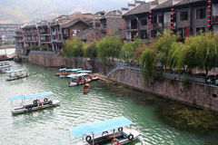 Alte Stadt Zhenyuan in Guizhou-Porzellan Stockfotografie
