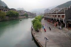 Alte Stadt Zhenyuan in Guizhou-Porzellan Stockbilder