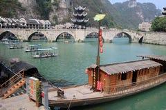 Alte Stadt Zhenyuan in Guizhou-Porzellan Lizenzfreies Stockbild