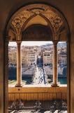 Alte Stadtansicht Sant Angelo Bridge und Roms von Sant Angelo Castl Lizenzfreie Stockfotos