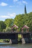 Alte Stadtbrücke Trondheim Stockbild