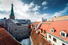 Alte Stadtdachspitzen Rigas Lizenzfreies Stockfoto