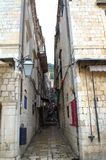 Alte Stadtengestraße, Dubrovnik Lizenzfreies Stockbild