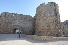 Alte Stadtfestung Rhodos Griechenland Lizenzfreie Stockfotografie