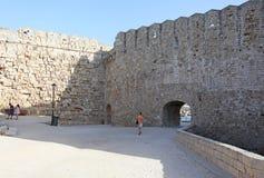 Alte Stadtfestung Rhodos Griechenland Lizenzfreie Stockbilder