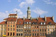 Alte Stadthäuser Stockbild